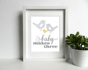 And Baby Makes Three - 8x10 inch print