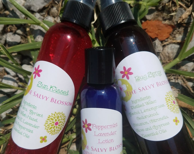 Featured listing image: Summer Deal for July, Bug Spray, Sun Kissed After Sun Spray and Hydrating Lotion, 3 Pack, Summer Skin Care