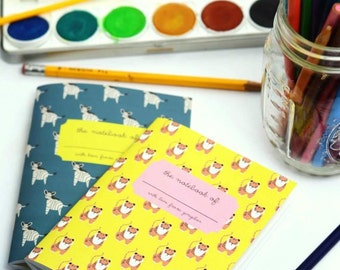 Tiger Stars Pocket Notebooks, Luxury Tiger Notepad, Cute Tiger Notebook, Paper Lover Pad, Tiger Stationery, Kids Animal Pad