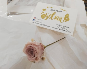 forks of flowers / headdresses pins / flowers preserved/hair forks / preserved flowers / Roses nude / roses nude