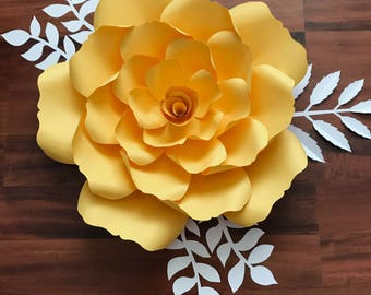 SVG Petal #135 Template for DIY Giant Paper Flowers with Center, Digital Version, Original  by Annie Rose, Cricut and Silhouette Ready