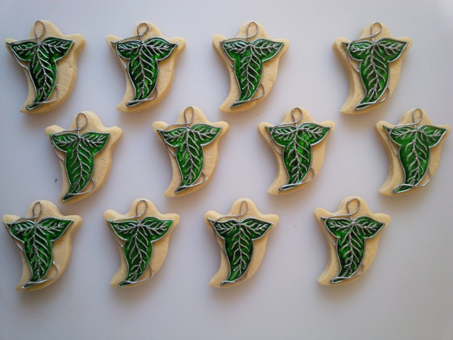 Leaves Of Lorien Cookies One Dozen Decorated Lord Of The # Muebles Pagolin