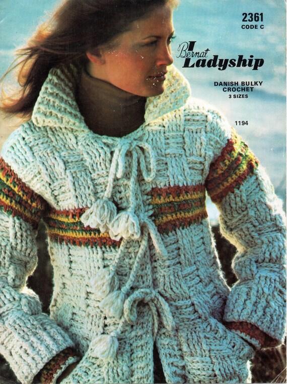Womens Crochet Pattern Womens Crochet Jacket Chunky Crochet Jacket ...