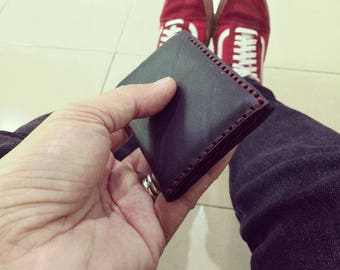 Upcycled minimalist slim wallet