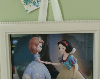 Snow White and Princess Sophia Framed Print