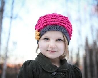 Crochet Hat Pattern - Vintage Scalloped Hat (Sizes Newborn to Adult)