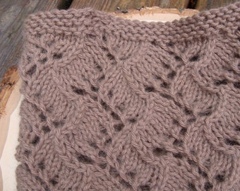 the vine lace cowl. handknit in angora blend.