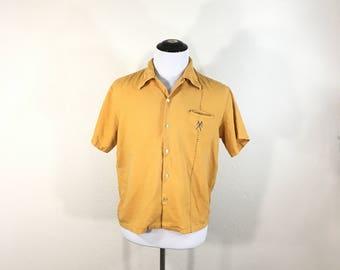 60's vintage towncraft rayon short sleeve shirt size XL