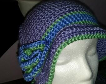 Purple bucket hat