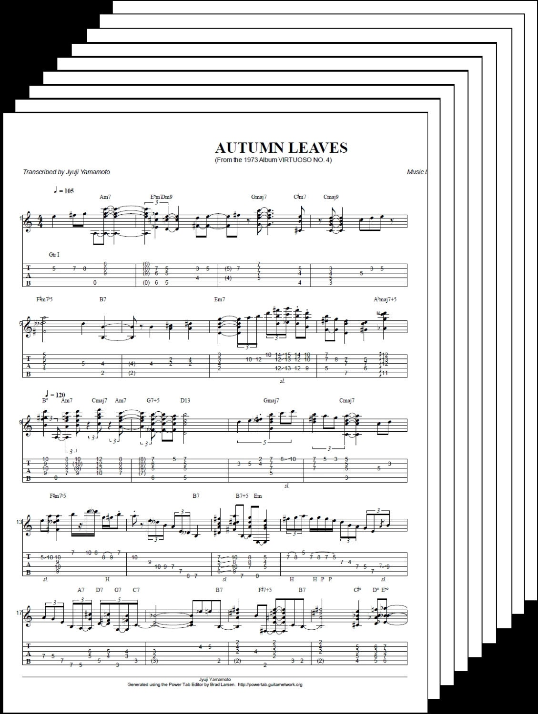 Joe pass autumn leaves virtuoso 4 tab score zoom hexwebz Choice Image