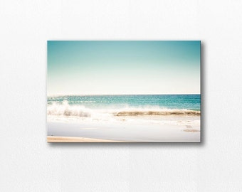 ocean photography canvas wrap12x18 24x36 fine art photography beach canvas art nautical decor photography canvas large waves gallery wrap
