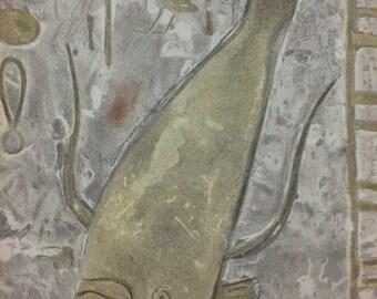Egyptian head Lithograph printed 1938 - Verve