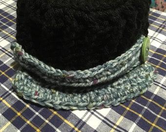Hand croched woollen newsboy cap