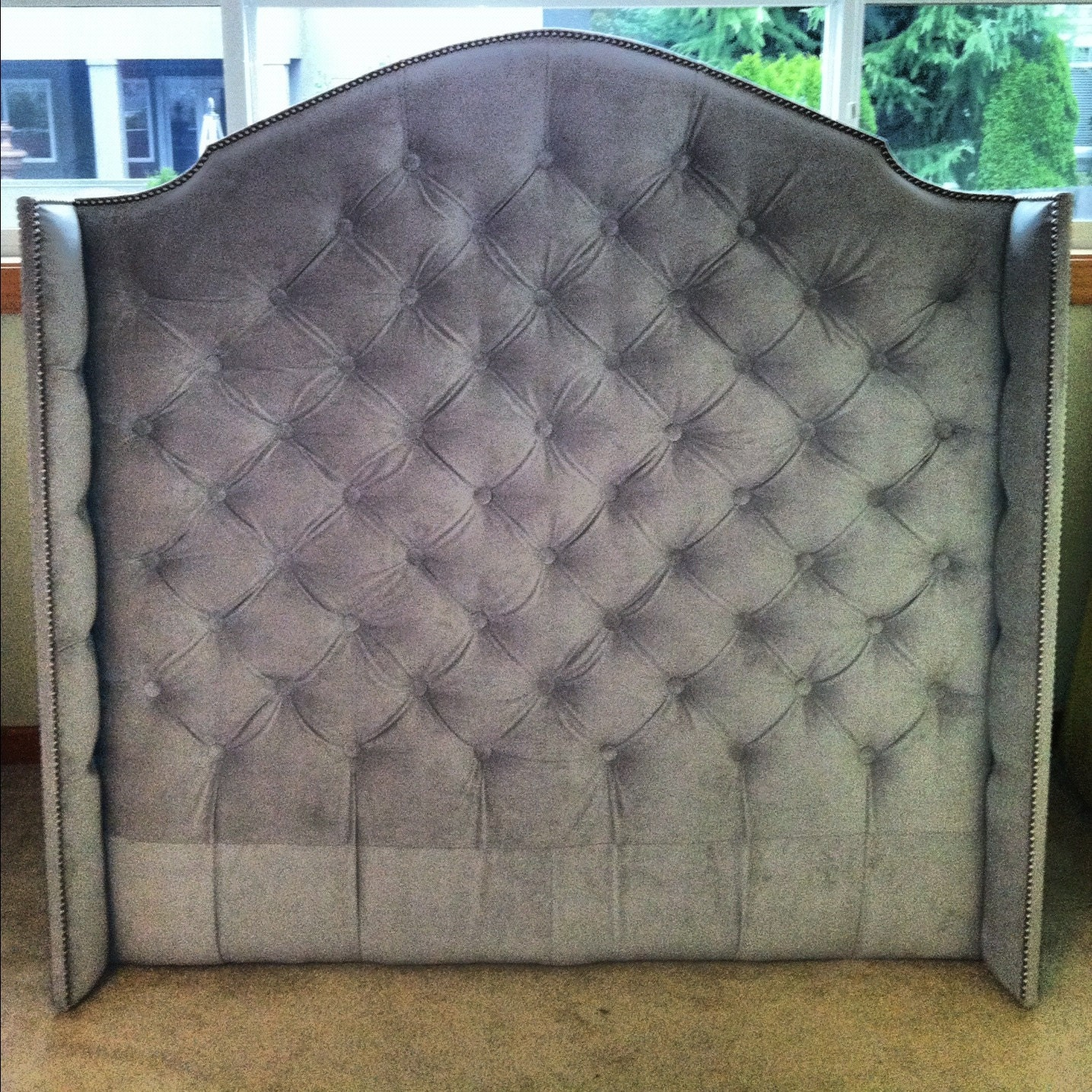 tall headboard king ideas wingback home design leather