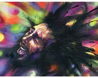 "Bob Marley Art Tapestry - Large Format Art Tapestry - ""Marley"" by Black Ink Art"