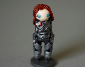 Mass Effect, Commander, Shepard, Chibi, Figurine (FemShep)