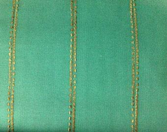 Teal Minimal Tribal Stripe Upholstery Fabric