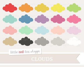 Cloud Clipart, Weather Clip Art Nursery Storm Baby Shower Fluffy Cloud Classroom Science Cute Digital Graphic Design Small Commercial Use