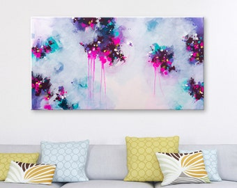 Violet art abstract painting Contemporary art Canvas Original Art Acrylic painting Pink painting abstract wall art Modern art abstract