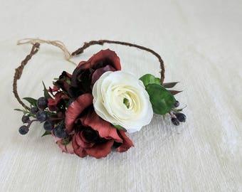 Flower Crown, Silk Flower Crown, Wedding Flower Crown, Flower Halo, Bridal Flower Crown, Flower Headpiece, Succulent Crown, Head Wreath