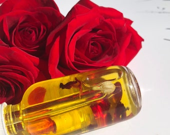 BEST SELLER   All Natural Facial Oil   Rose Face Oil   Petal Drops   Moisturizer   100% Natural Skincare   Dry Skin   Acne   Rosacea
