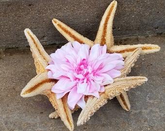 Beach Bridal Shower Decor, Sugar Starfish Centerpiece,