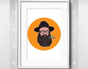 Gifts for Bar & Bat Mitzvah - Custom Portrait, Face Portrait, caricature from photograph, custom cartoon illustration, cartoon portrait