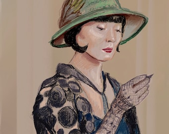 "Art print ""Phryne Fisher"" by Antonia Sanker"
