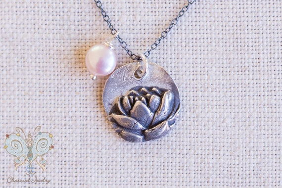 Rustic Lotus Necklace