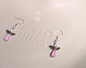 Miracle Glow Bead Angel Earrings