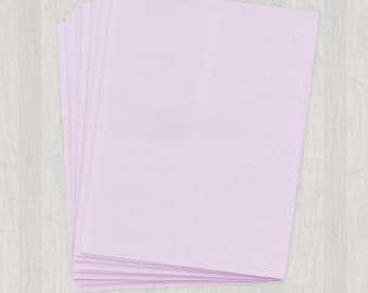 10 Sheets of Text Paper - Light Purple - DIY Invitations - Paper for Weddings & Other Events