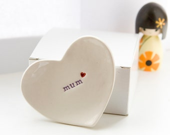 Gift For Mum-Mum Ring Dish-Mother of the Bride Gift-Mother's Day Gift-comes with gift box-by Diana Parkhouse