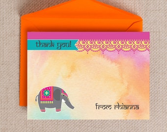 Personalised Bollywood Indian Kids Thank You Note Cards