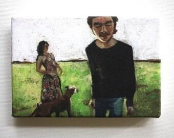 Sunlight / Tiny canvas print