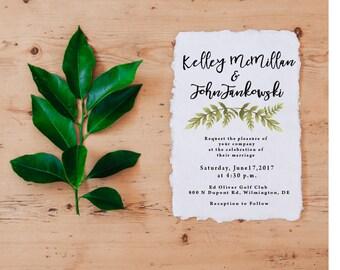 Printable Wedding Invitations • Greenery Wedding Invitation Template • Invitation Suite • Best Selling Item