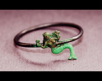 Mermaid Ring brass and sterling silver