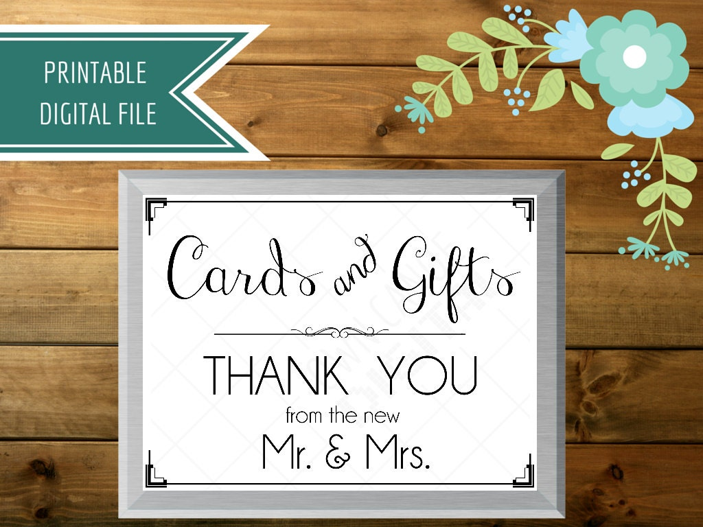 Wedding Reception Gift: Wedding Card Box Sign Cards And Gifts Sign Gift Table