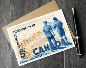 Colombo Plan, Canada history cards, history teacher birthday, canada teacher gift ideas, canadian teacher retirement cards, canada greeting