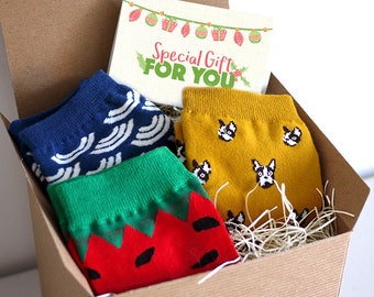 Socks Gift Set, Christmas Gift, Xmas Gift, gift wrap and personal note