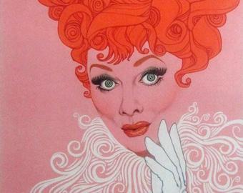 Lucille Ball, Amsel Art, Lucille Ball Art, Ball Lucille, Art Ball, Ball Art, Richard Amsel, Lucy Richard, Richard Lucy, I Love Lucy Art