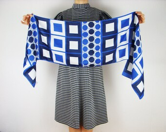 Rectangles Print Scarf, Geometric Scarf, accessories for her, Scarf Gift for Wife, Boho Fashion Scarf