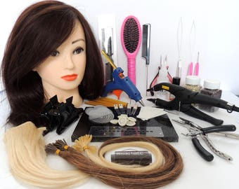 Hair Extension online training courses by fully accredited Hair Extension Technican Trainers. (Established 2007)