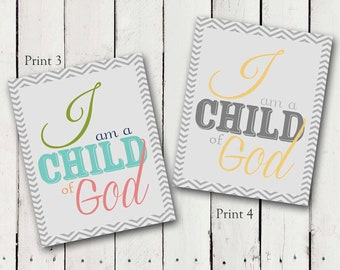 I am a Child of God LDS Prints - 2018 Primary Theme