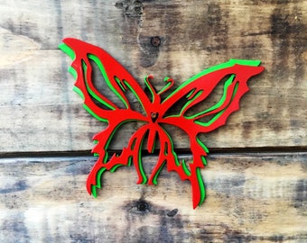 Butterfly Wall Art - Metal Wall Decor - Whimsical Wall Art - Garden Patio Decor - Nursery Decor - Butterflies - Nature - Insects - Metal