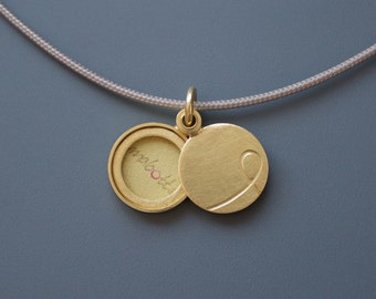 Golden Initial locket picture locket personalized locket