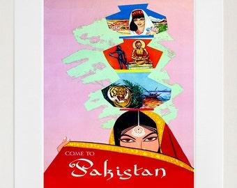 Pakistan Travel Poster Art Print Home Decor (ZT377)