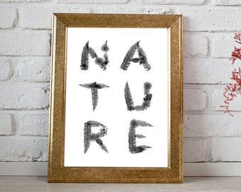 Nature Typographic Art Print