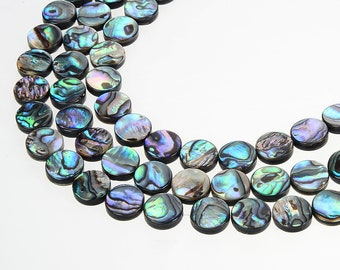 15.3 inch Natural Abalone Shell,Flat Round Shell,Bright Polish Abalone Shell Beads,Brilliant color Shell Gemstone,Abalone Shell Wholesale