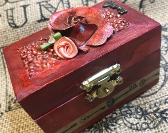 Mixed Media Altered Trinket Box by Cheeky Chic Designs