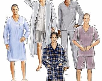 Men's Robe Pattern, Men's Loungewear Pattern, Men's Pajama Pattern, Men's Nightshirt Pattern, Simplicity Sewing Pattern 1021